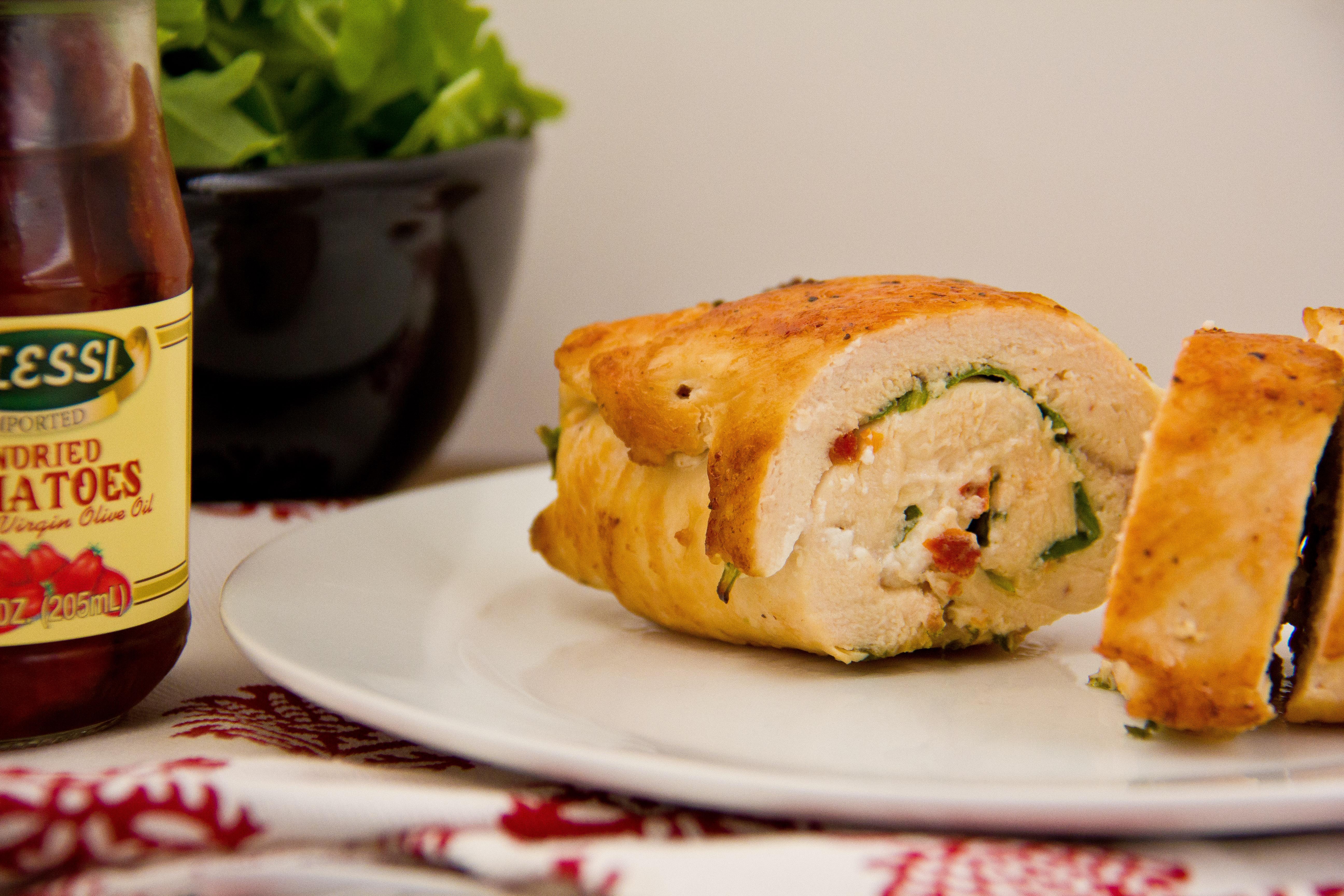 Arugula and Goat Cheese Stuffed Chicken (1 of 1)