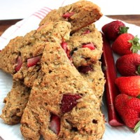 Guest Post_The Healthy Maven-Strawberry Rhubarb Scones