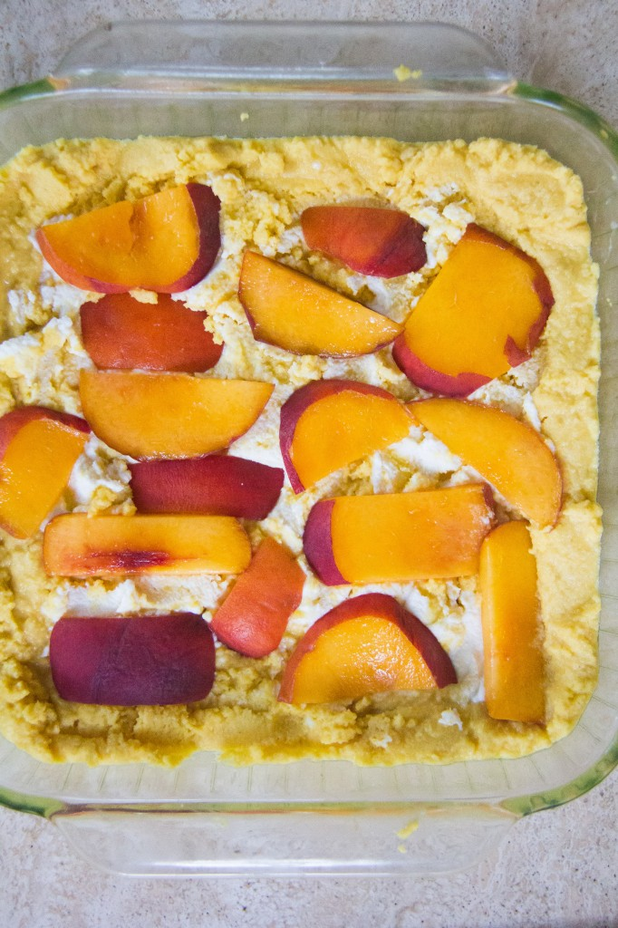 Honey Cornbread with Peaches, Ricotta and Basil (2 of 7)