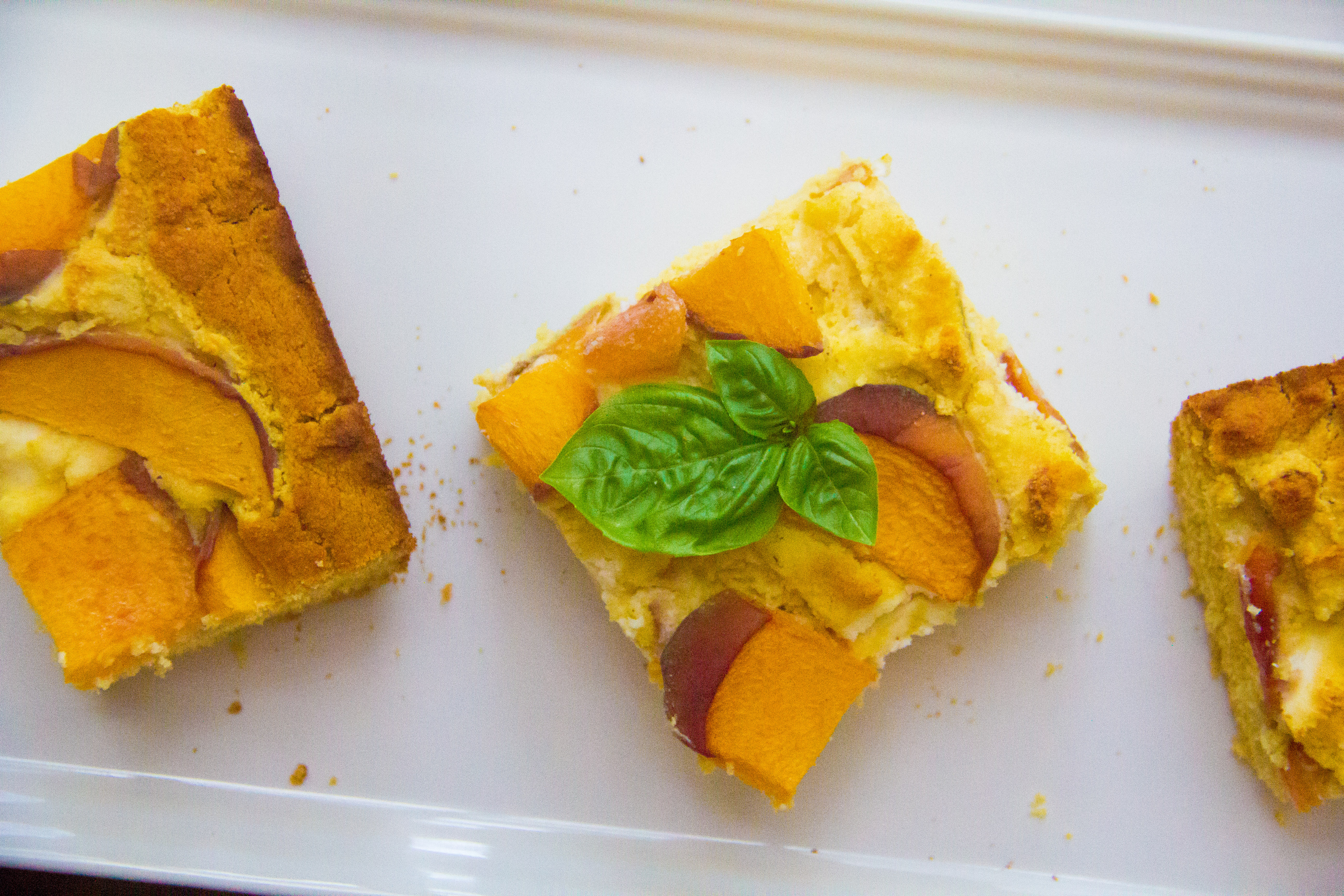 Honey Cornbread with Peaches, Ricotta and Basil (6 of 7)