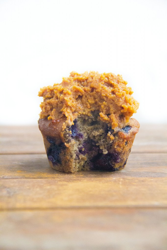 Classic Blueberry Muffins with Pumpkin Frosting (6 of 7)