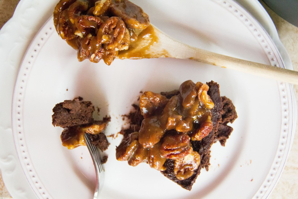 Fudgy Pumpkin Brownie Pecan Pie (9 of 10)