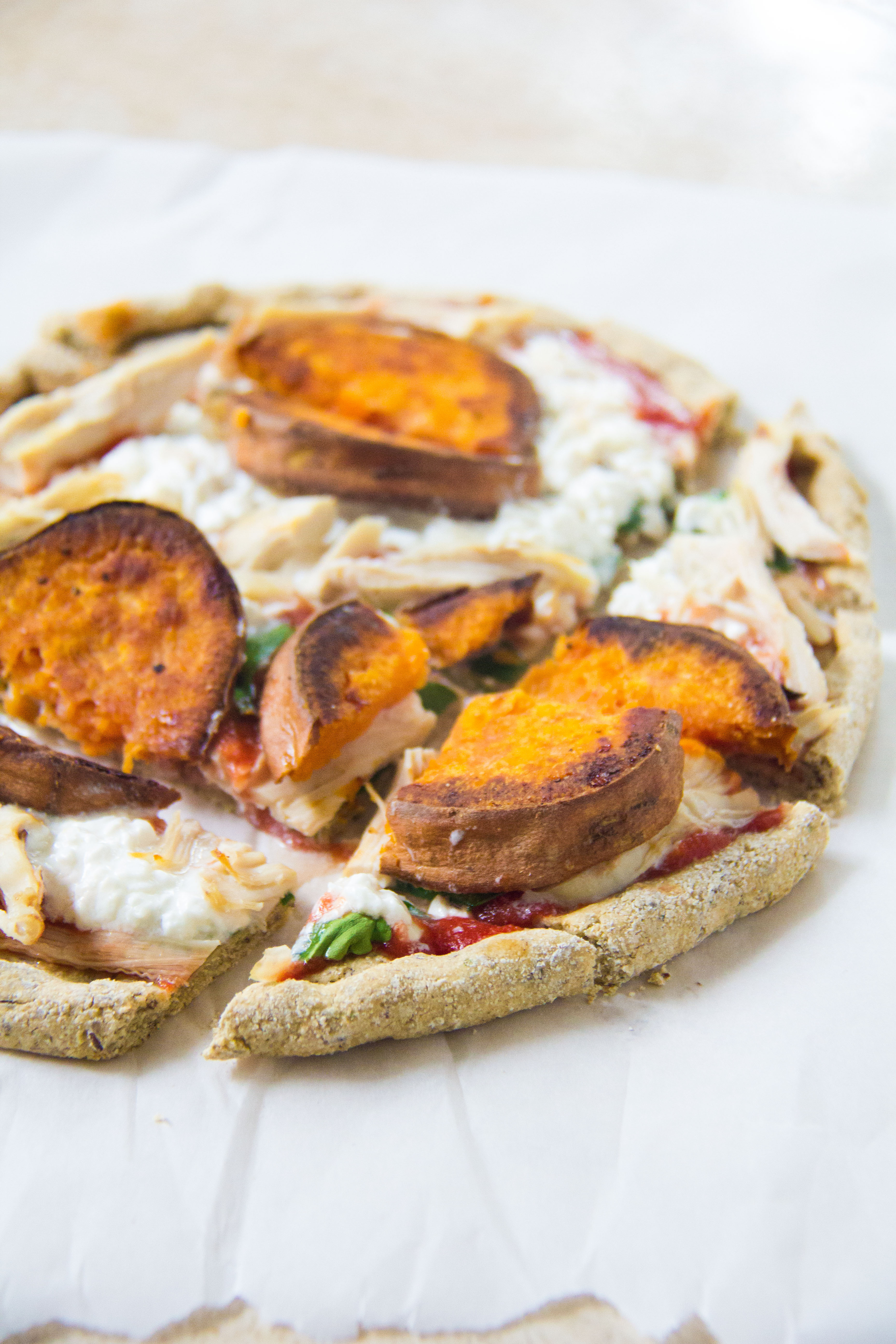 sweet potato cottage cheese pizza for one yeahimmaeatthat