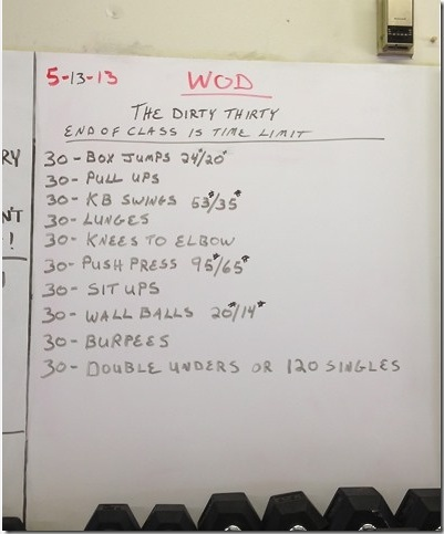 Dirty 30 workout