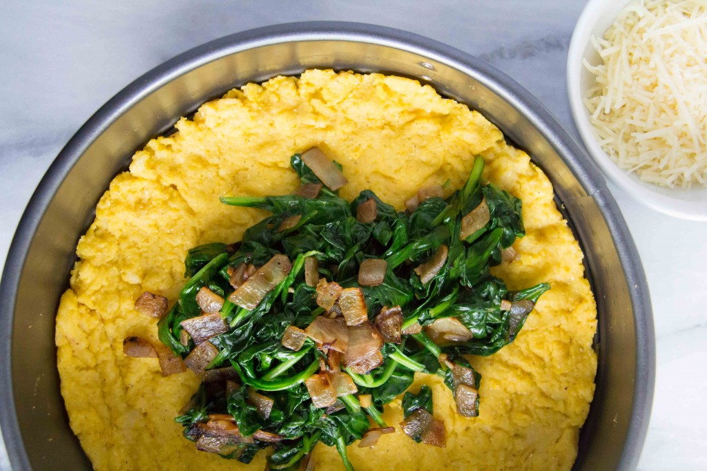 Polenta Tart with Asiago Spinach (1 of 7)