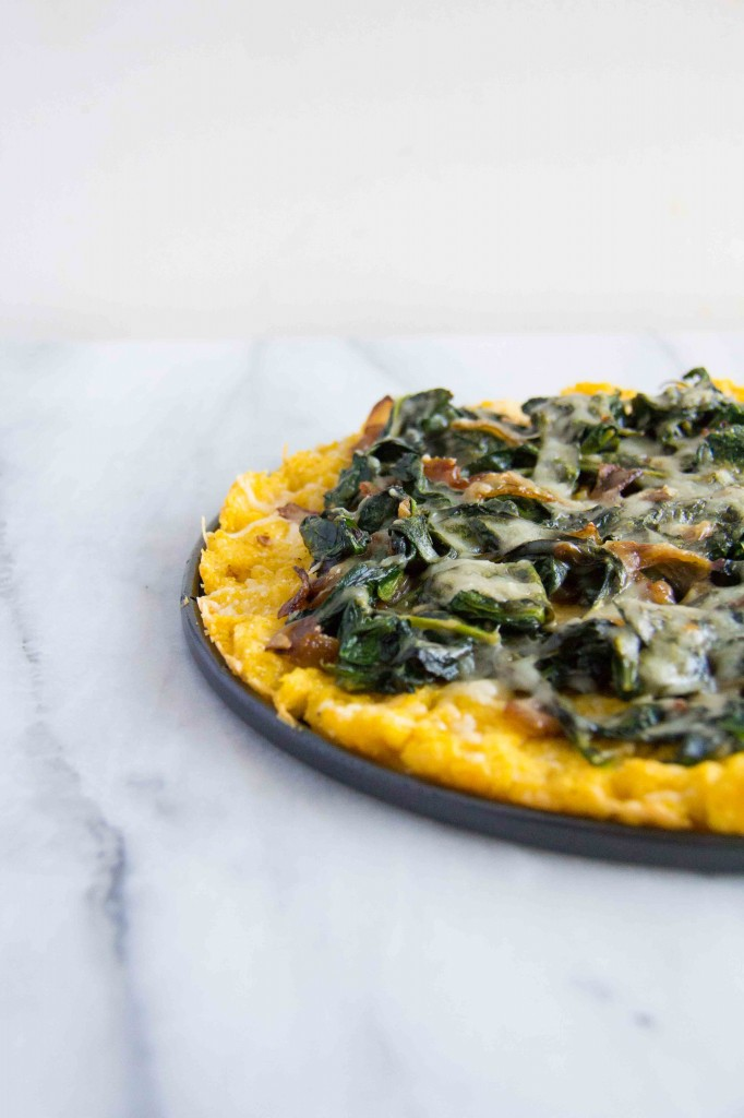 Polenta Tart with Asiago Spinach (2 of 7)