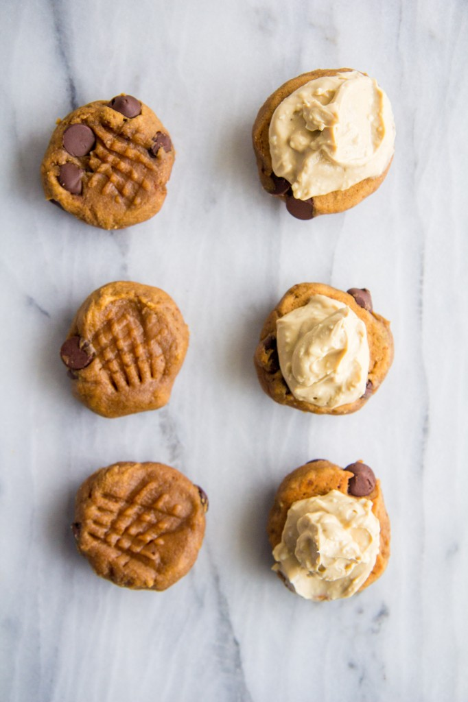 Banana Bread Sandwich Cookies with Greek Yogurt Cream Cheese-2