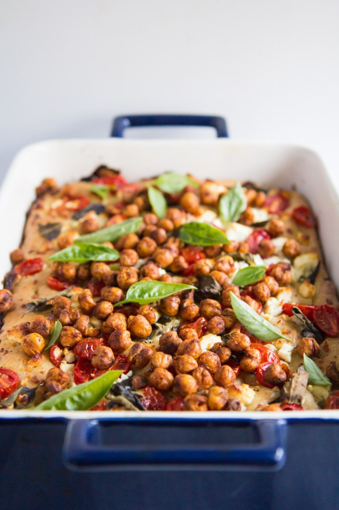 Caprese Salad Focaccia with Crunchy Roasted Chickpeas-8