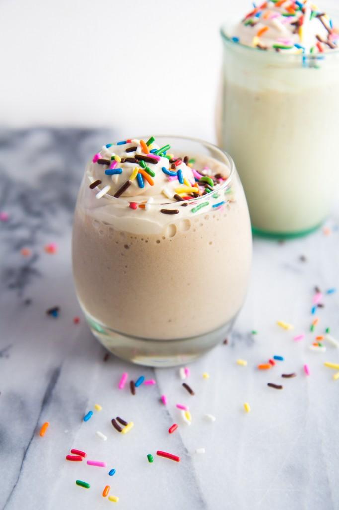 Coconut Frappuccino with Amaretto Whipped Cream