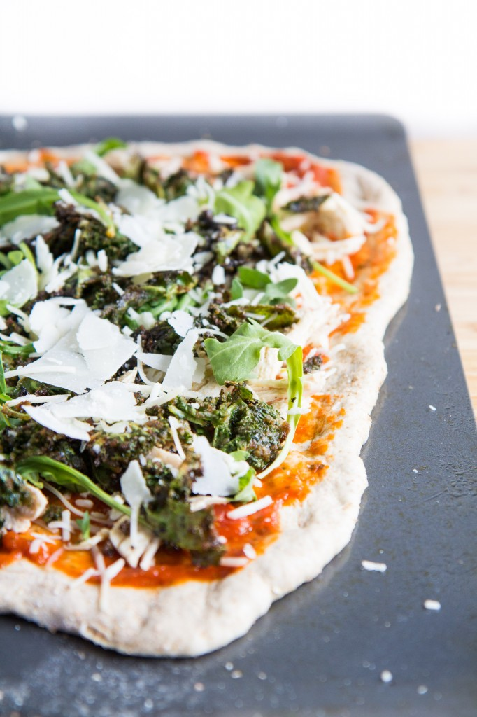 Kale Caesar Salad Chicken Pizza-3
