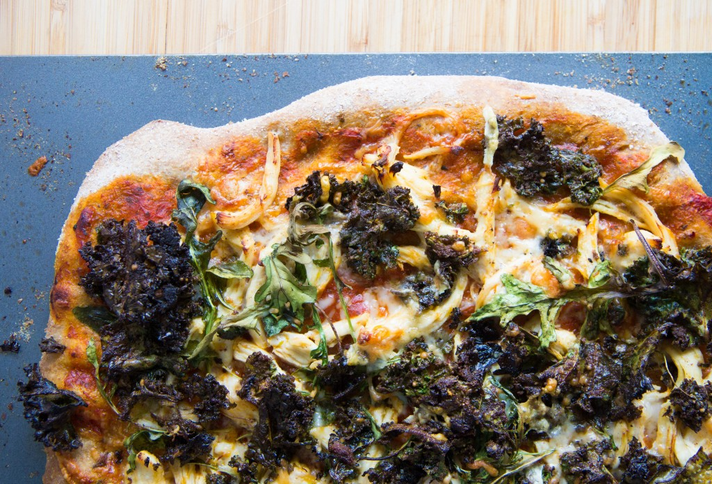 Kale Caesar Salad Chicken Pizza-5