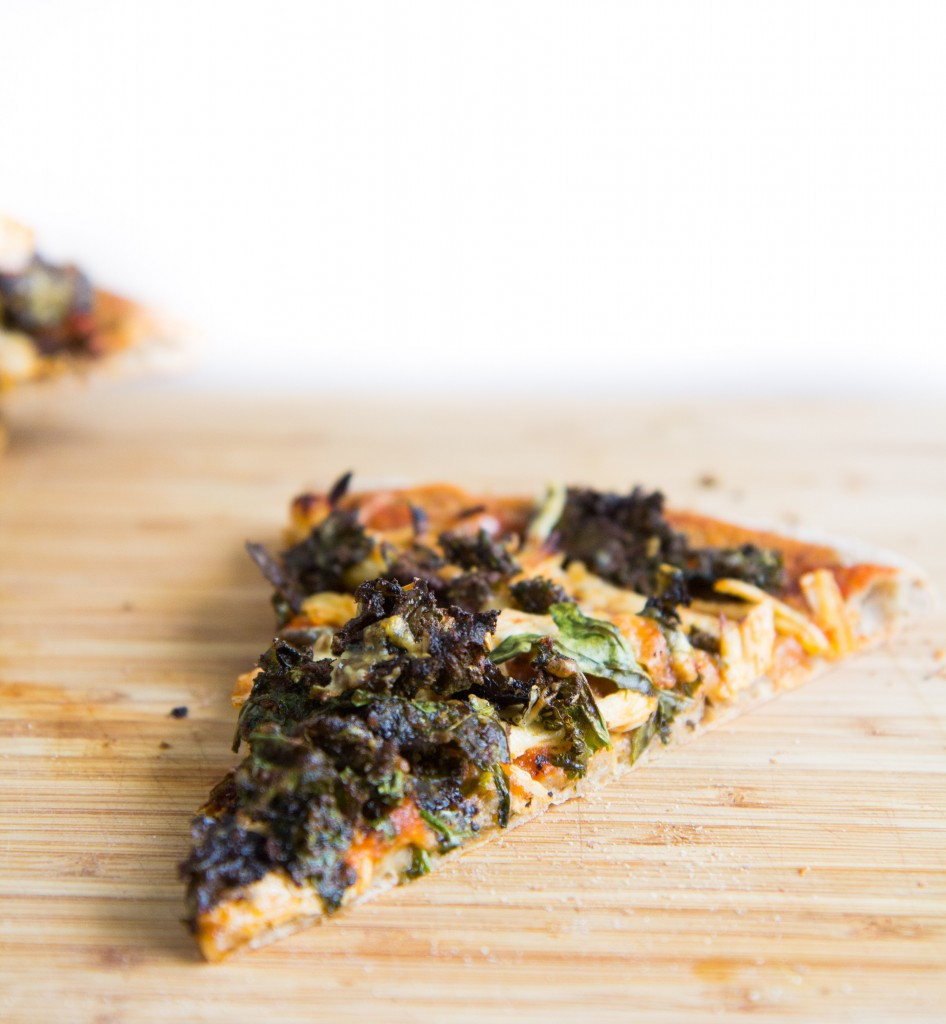 Kale Caesar Salad Chicken Pizza-7