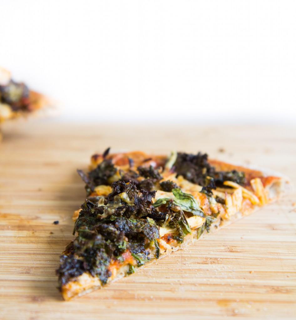 Kale Caesar Salad Chicken Pizza-7