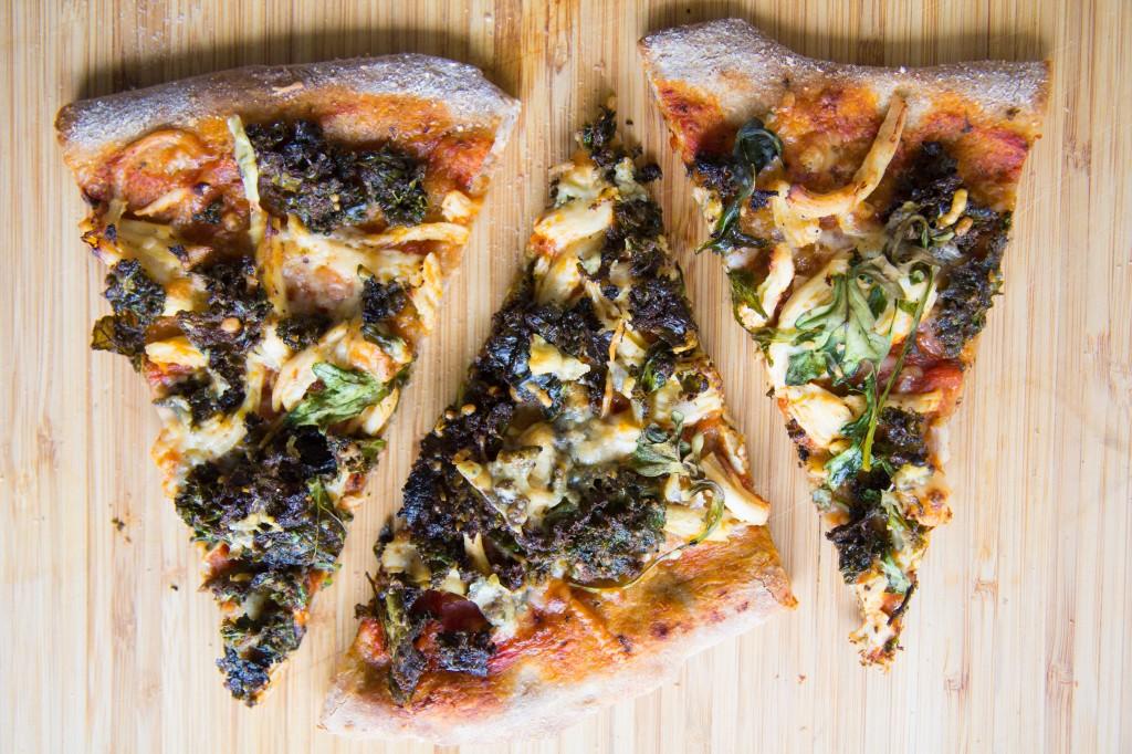 Kale Caesar Salad Chicken Pizza-8