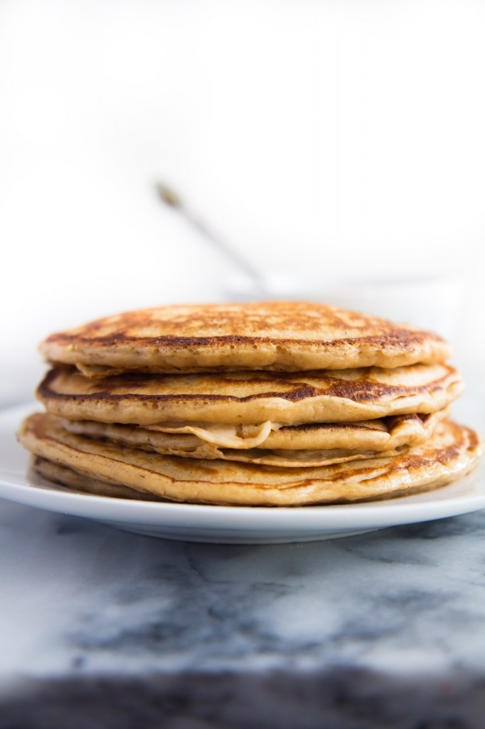 Whole Wheat Coconut Chip Pancakes-3