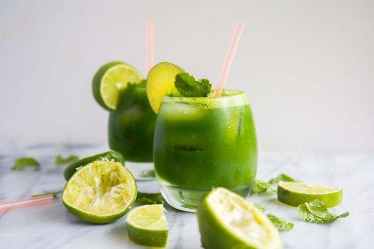 Minty Kale Limemade Mocktail-4