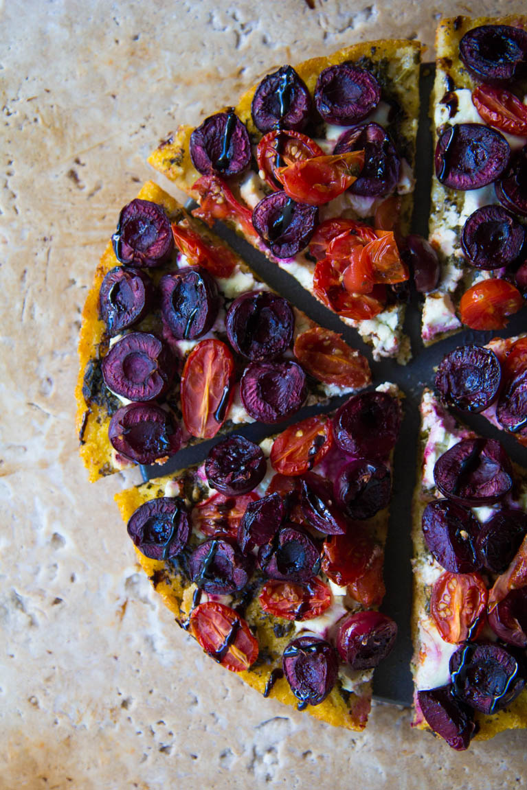 Roasted Cherry Polenta Pizza3