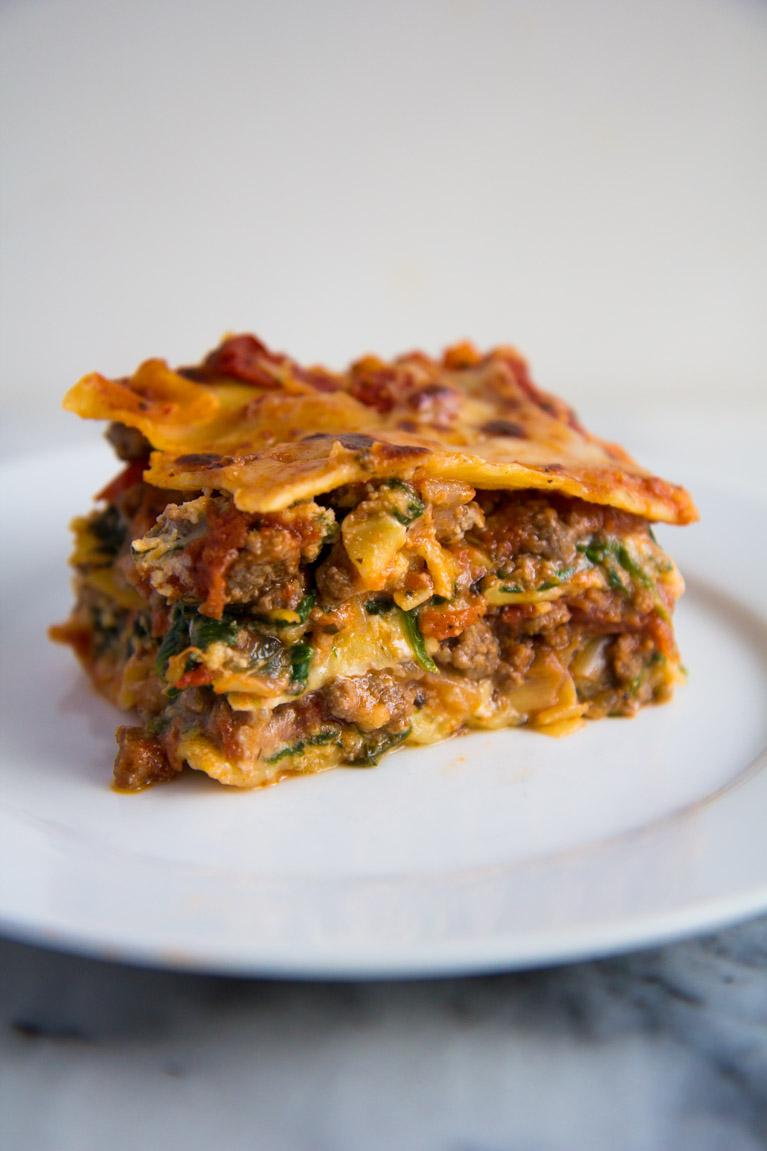 Tomato & Spinach Lasagna-3