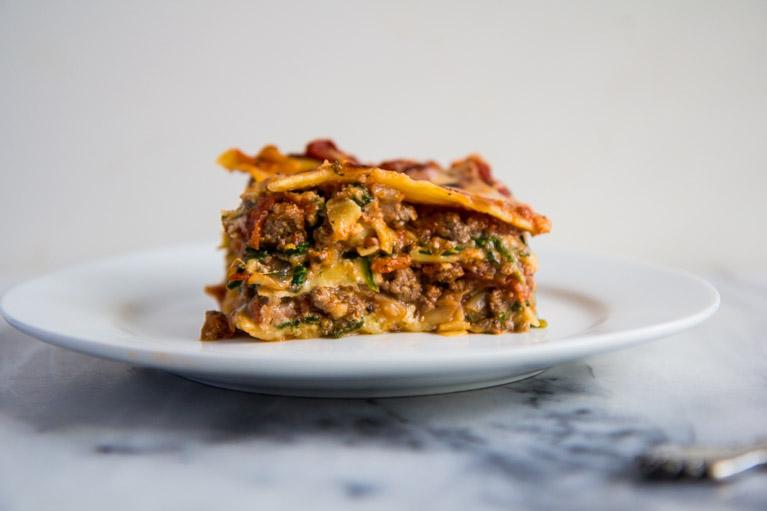 Tomato & Spinach Lasagna-6