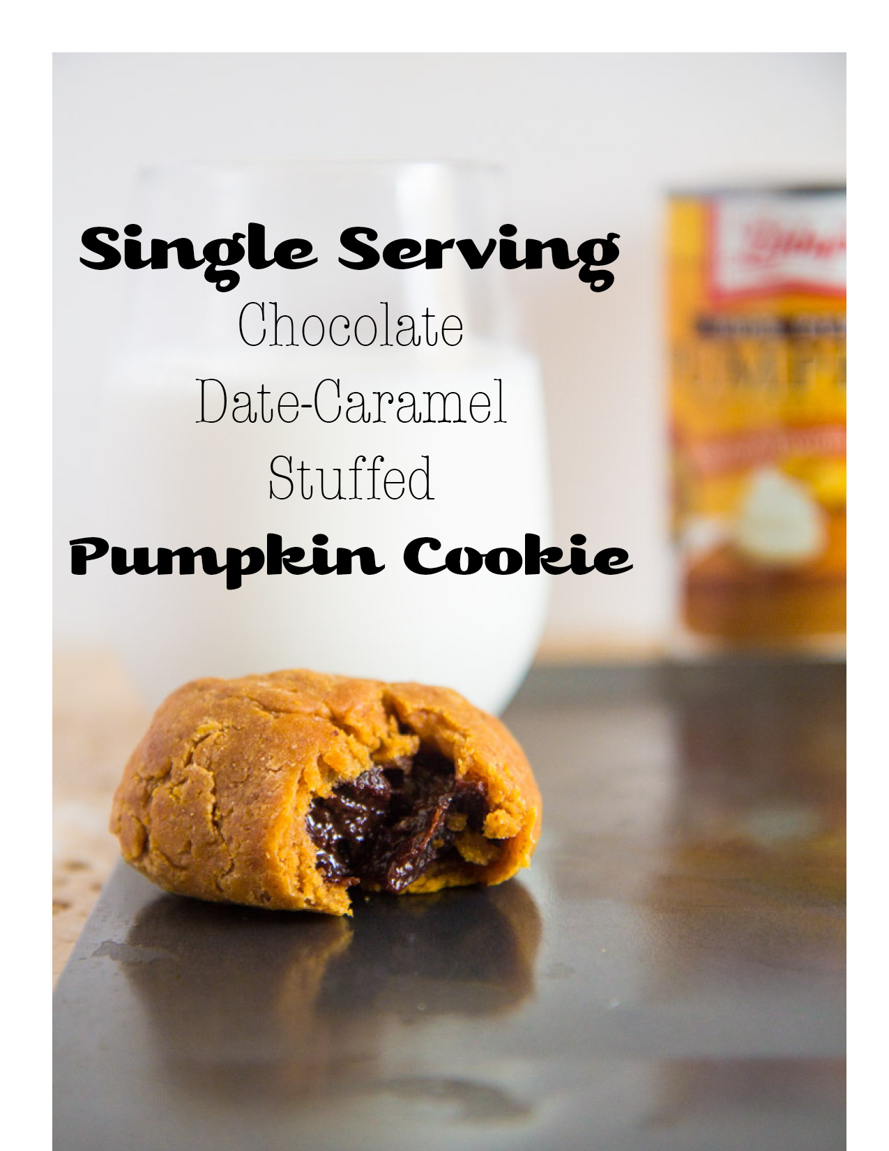 Chocolate Date Caramel Pumpkin Cookie
