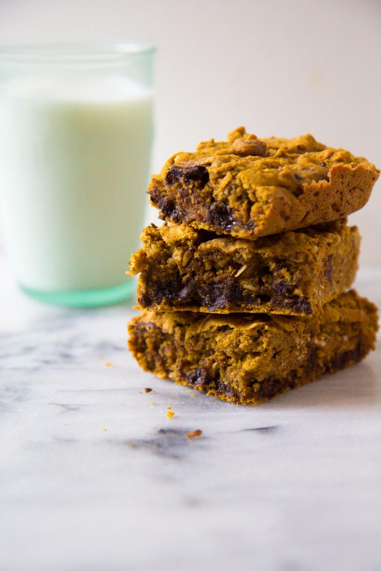 Chocolaty Pumpkin Breakast Bars   immaeatthat