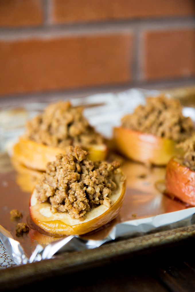 Oatmeal Cookie Granola Stuffed Baked Apples-3
