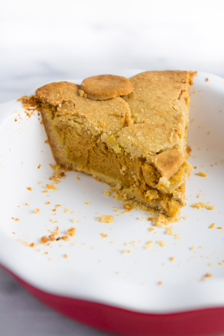 Crust heavy pumpkin pie! #glutenfree