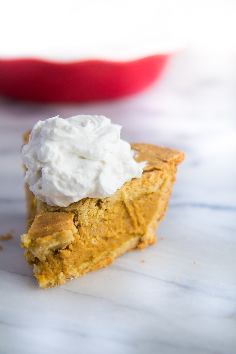 Double Crust Pumpkin Pie with Coconut Whipped Cream | Yeah...immaeatthat #glutenfree #almondflour