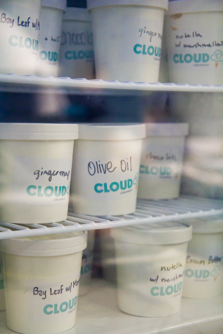 Olive Oil Ice Cream at Cloud 10 Creamery in Houston!