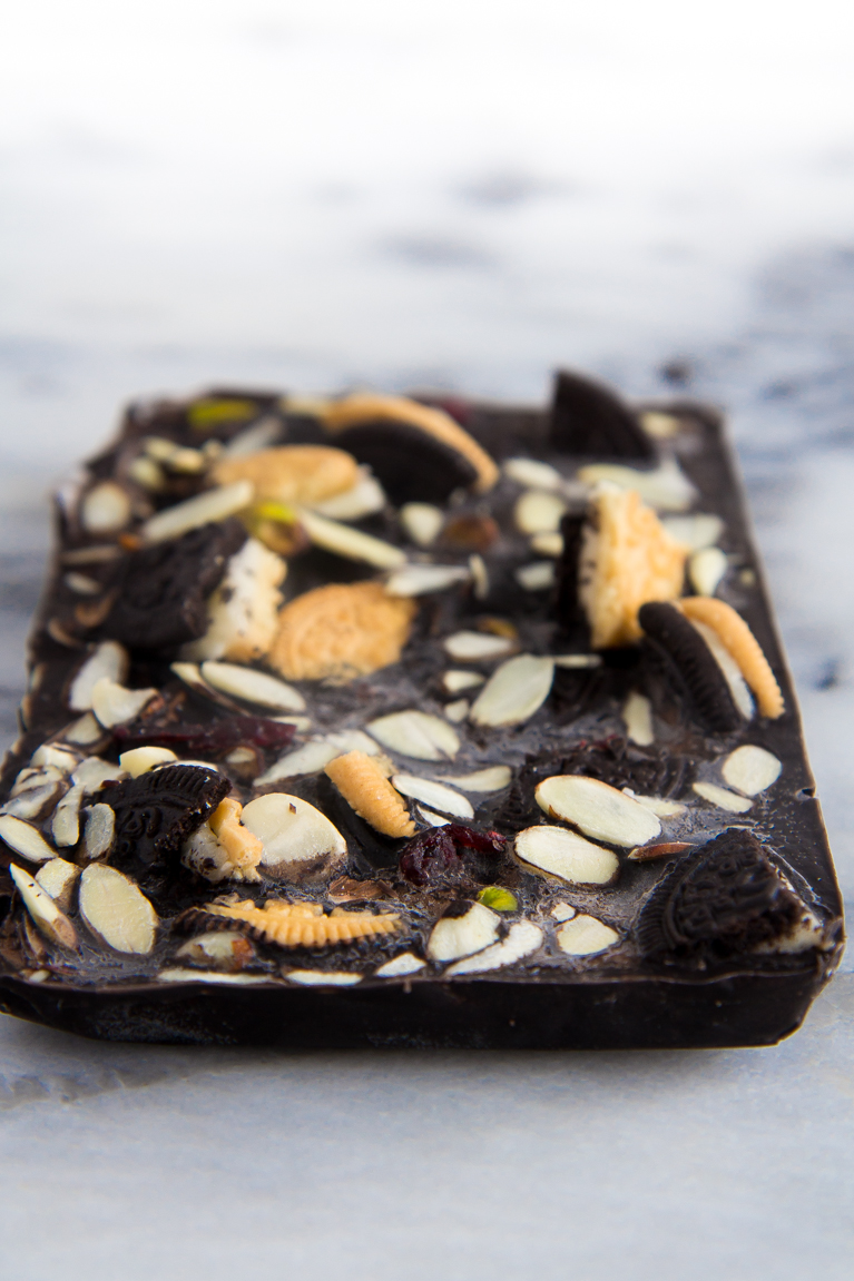 3-Ingredient #Vegan Chocolate Bark.  Totally customizable with your add-ins of choice!