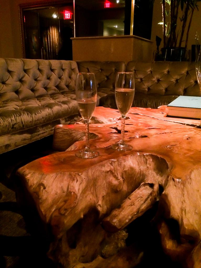 Champagne at Hotel Zaza.