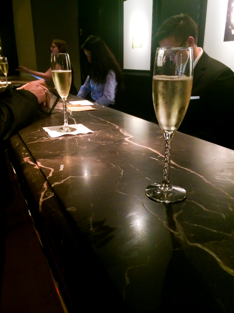 Complimentary Champagne at Hotel Zaza<3!