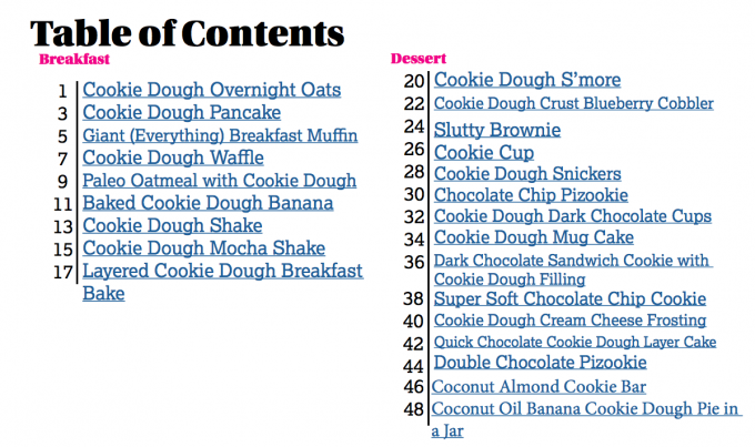Cookie Dough eBook: ONE healthy cookie dough + 24 delicious recipes to make with it!