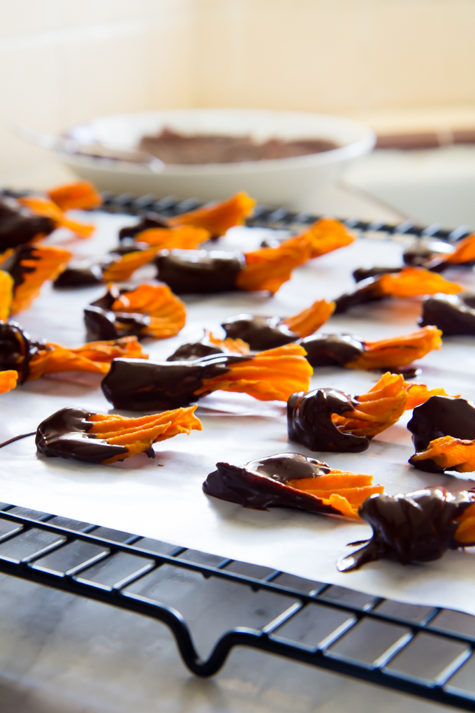 baked ricotta with dark chocolate sweet potato chips-2