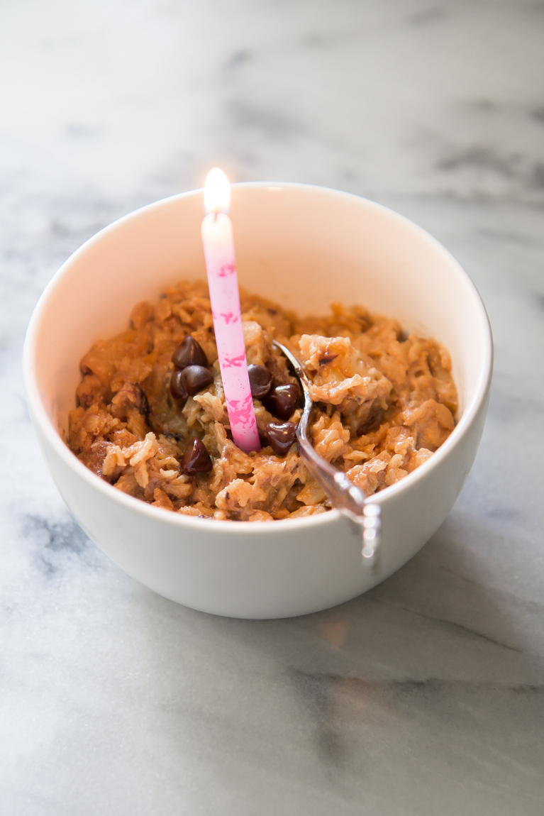 Birthday Oatmeal! (or to celebrate any morning!)