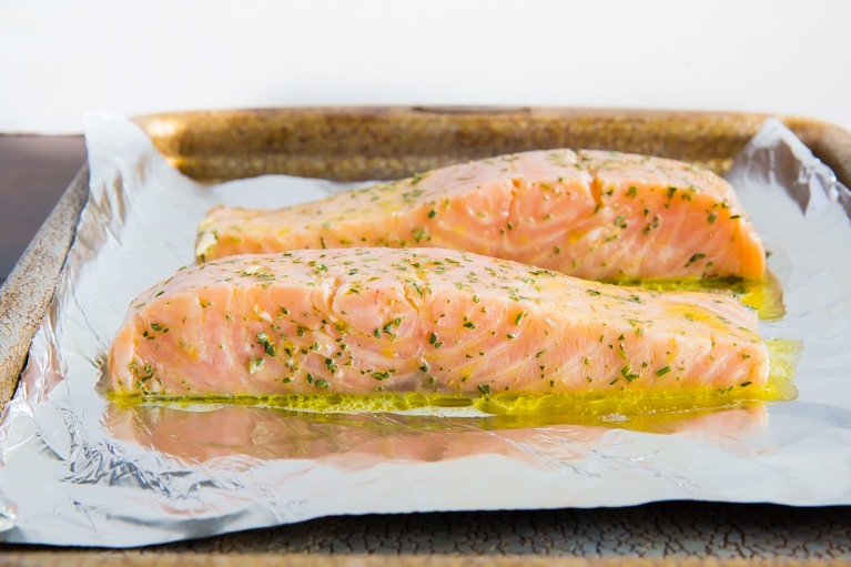 Slow baked salmon!