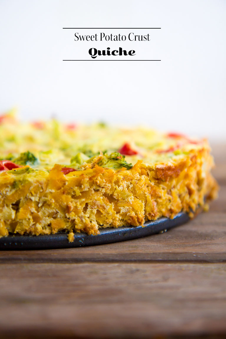 The perfect #glutenfree quiche made with a sweet potato crust!