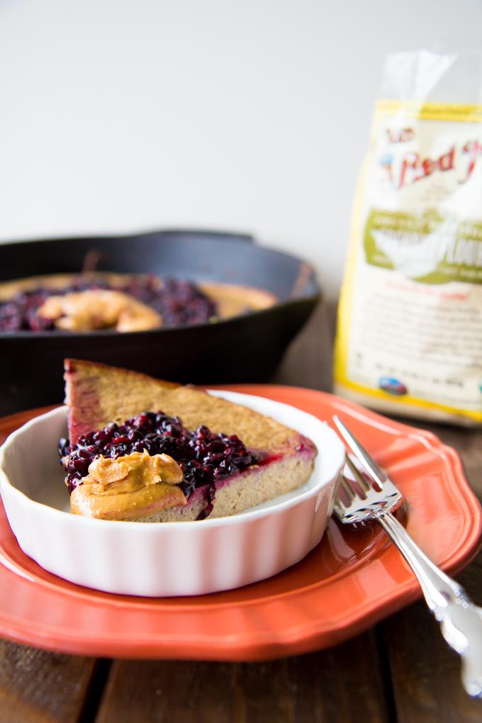 PB & J Coconut Flour Breakfast Cake \\ immaEatThat #spon