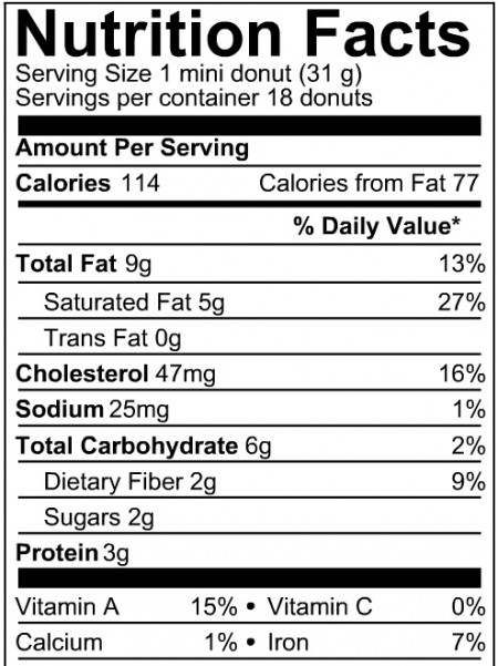 Ingredients In Cake Donuts