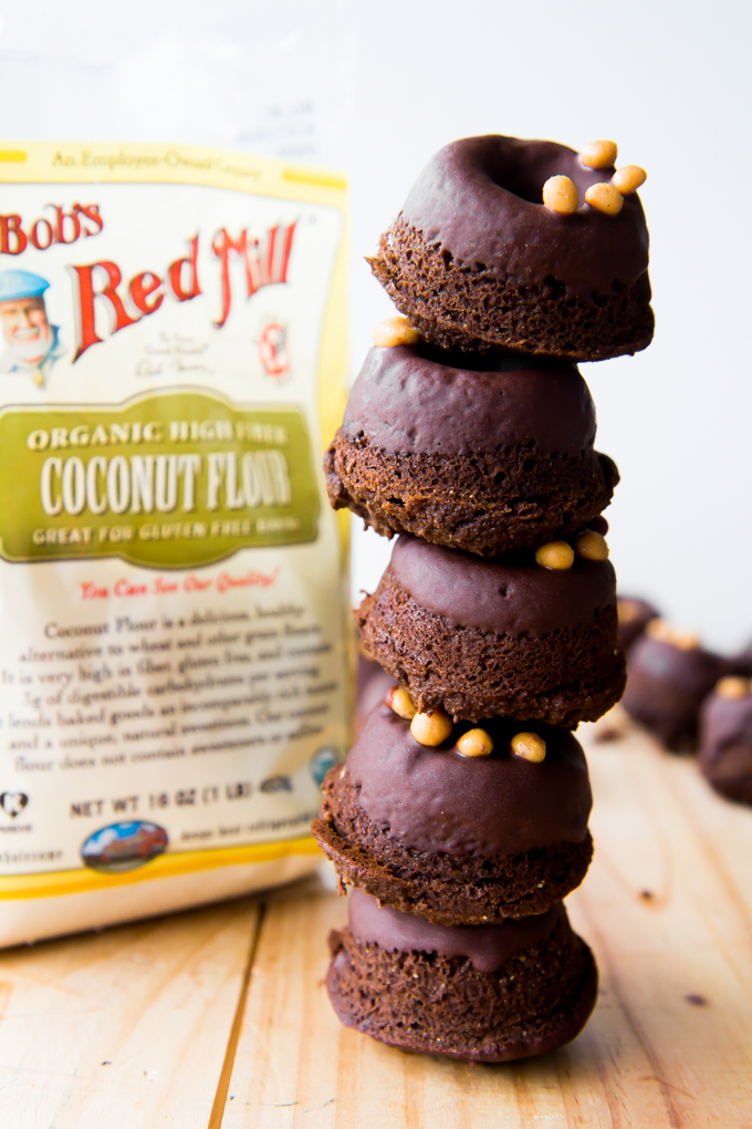 Grain-free Double Chocolate Doughnuts with Peanut Butter Sprinkles \\ immaEatThat