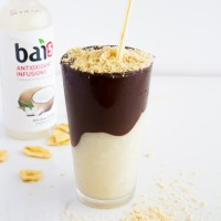 Chocolate Covered Coconut Smoothie with Banana Chip Powder \\ immaEATthat
