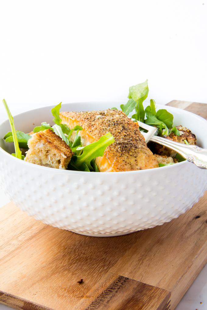 Grilled Cheese Salmon Salad \\ immaEATthat