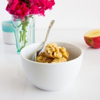 latte apple crisp oatmeal \\ immaEATthat