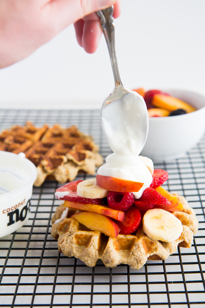 Banana Bread Protein Waffles \\ immaEATthat