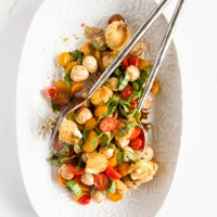 caprese salad with crispy goat cheese \\ immaEATthat.com