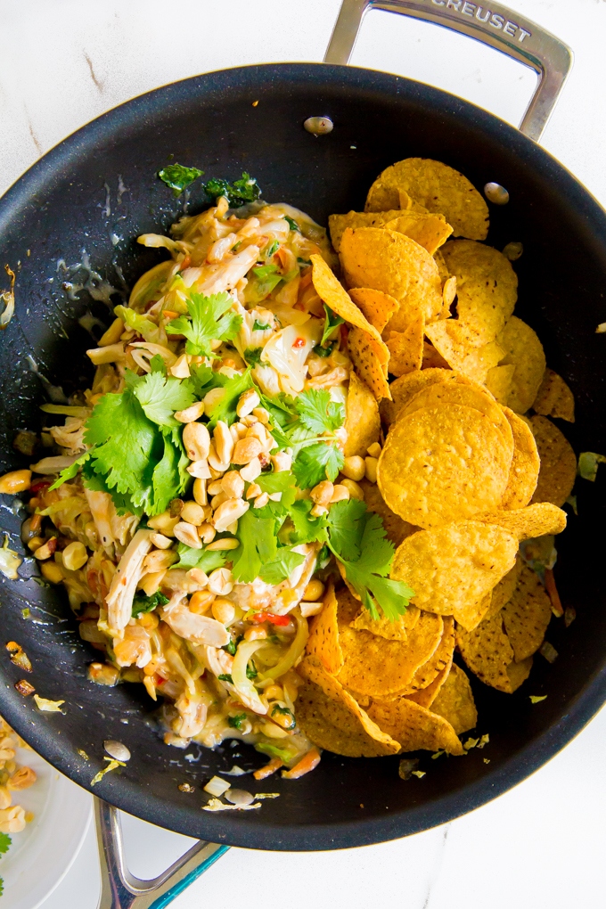 thai chicken chilaquiles \\ immaEATthat.com