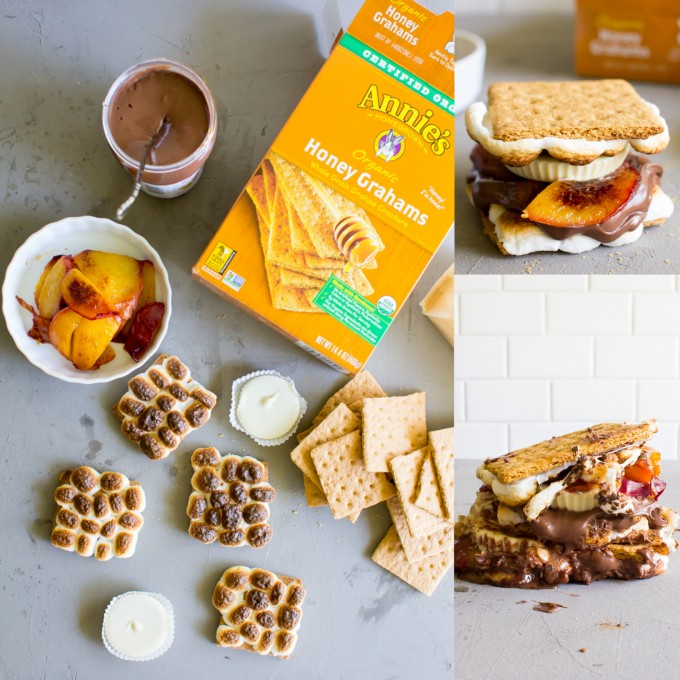 white chocolate peanut butter cup + caramelized peach  s'more \\ immaEATthat.com