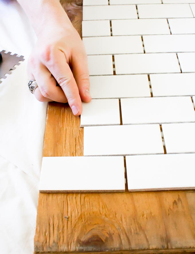 DIY subway tile backsplash backdrop | immaEATthat.com