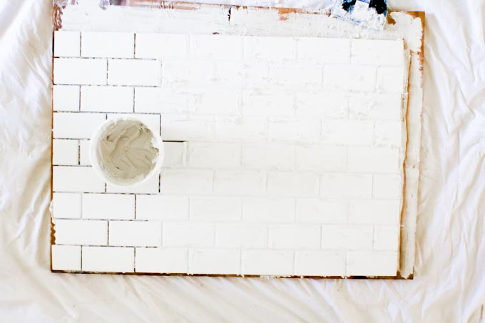 DIY subway tile backsplash backdrop| immaEATthat.com