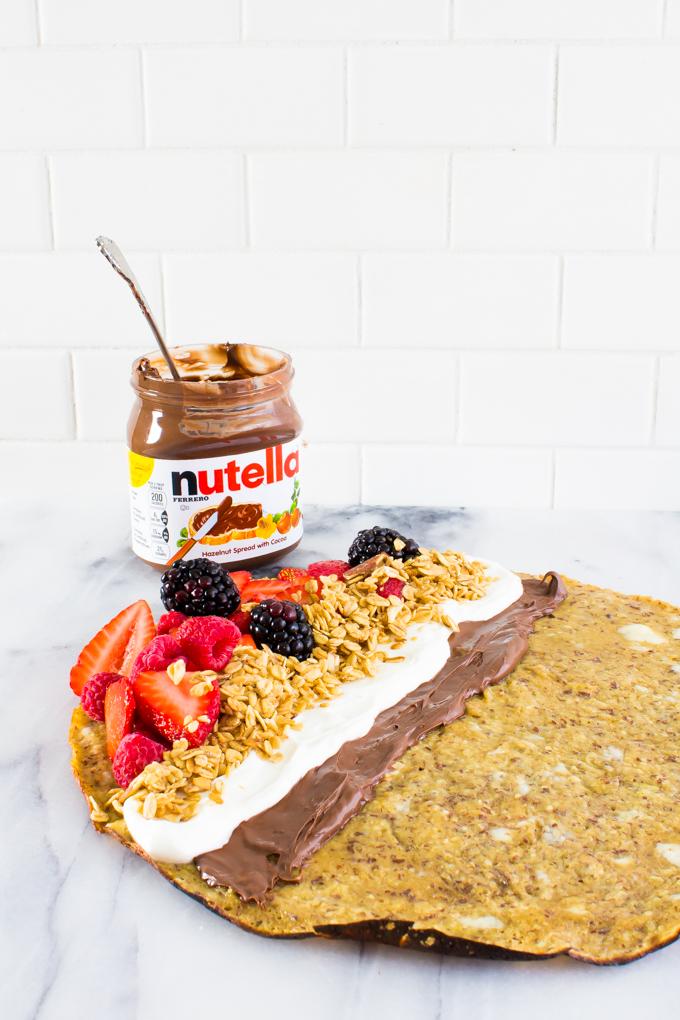 Nutella Parfait Almond Flour Crepes | immaEATthat.com